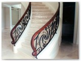 Curved Interior Stair Railing
