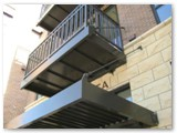 Double Tube Steel, Decorative Rail, Condo Balconies