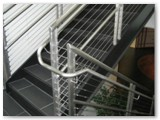 Stainless Steel Double Post Cable Stair Rail